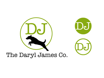 Logo for The Daryl James Company - Medium & Small terrier cowgirl rep commercial logo branding