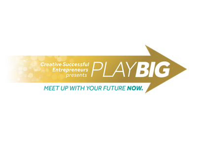Logo for Play Big 2018 entrepreneur website logo coaching event branding