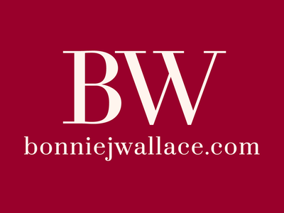 Logo for Bonnie J. Wallace branding logo website acting author podcast