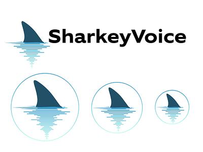 Branding for V.O. actor Jim Sharkey, SharkeyVoice.com website logo branding acting voiceover