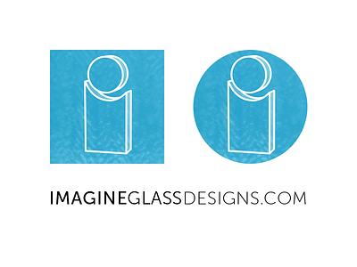 Branding for Imagine Glass imagine glass glass branding icon logo