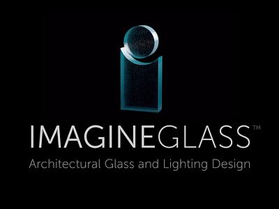 Logo for Imagine Glass 3D logo imagine glass icon glass branding