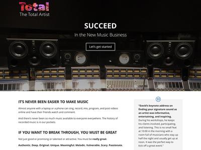 Website for The Total Artist
