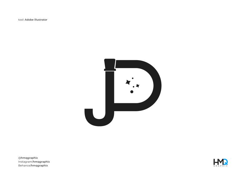 JP Modern Monogram logo mark symbol magician magic logo logo intro graphicdesign wordmark logo inspirations logotype designer logo mark logo hmqgraphix branding attractive logo modern logo minimalist logo design logo business logo