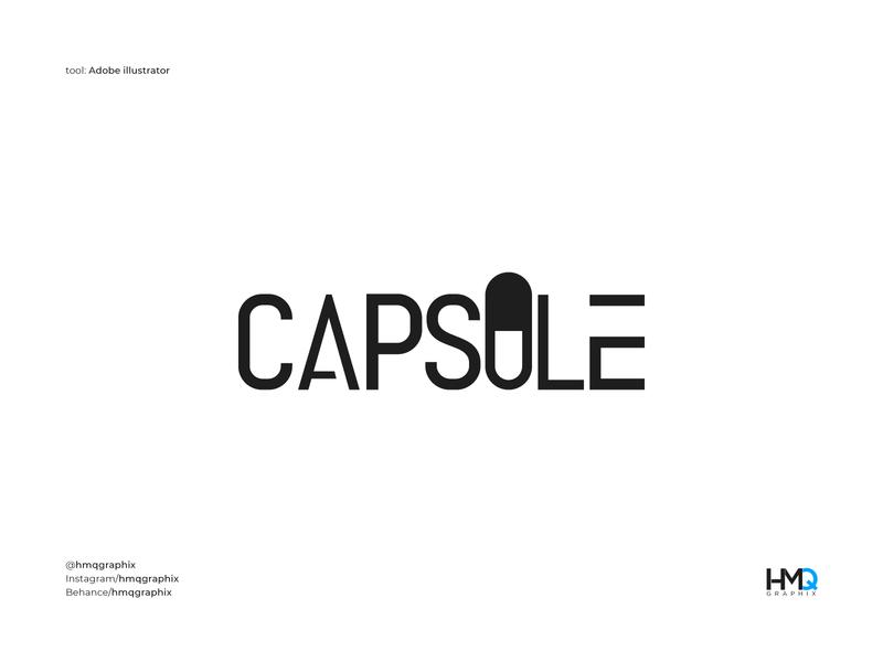 Capsule Concept Design 💊💊 logo intro freelancer logo professional graphic design logo calligraphy word mark logo mark logo hmqgraphix branding attractive logo modern logo minimalist logo design logo business logo pharmacy logo capsules