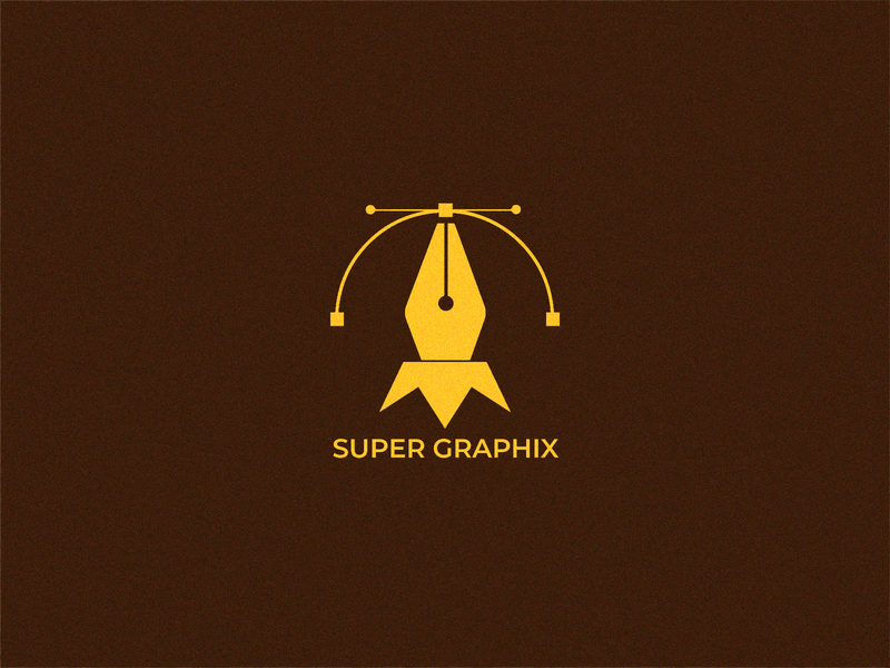 "grain Modern Logo design for ""Super Graphix"" logo animation typography logo typogaphy designer logo mark logo hmqgraphix branding attractive logo minimalist logo design logo business logo modern logo graphic design logo pencil logo pen logo"