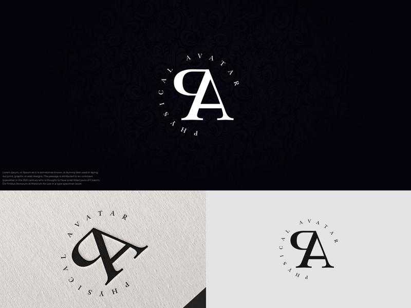 Physical Avatar PA monogram logo attractive logo logo inspirations logo mark branding logotype business logo hmqgraphix modern logo design minimalist minimalist logo modern logo monogram logo monogram