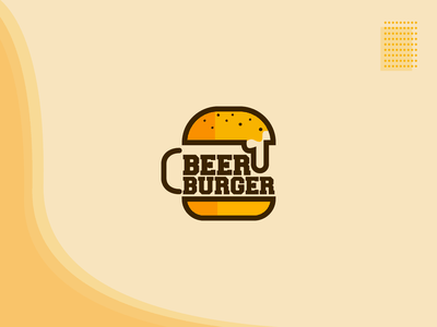 Beer Burger Concept Logo Design By Hmq Graphix On Dribbble