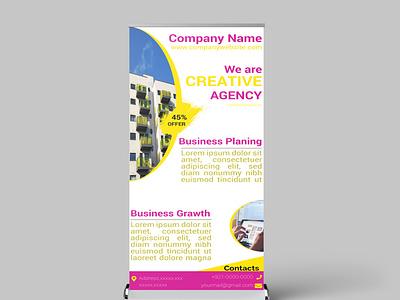 Roll up Banner design branding