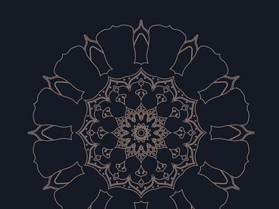 Mandala illustration design vector
