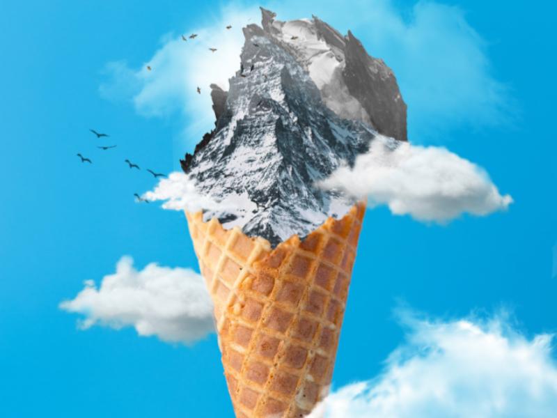 Ice with Stones photoshop