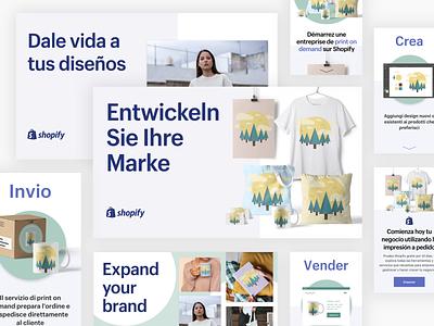 Print on Demand International web design web apparel ux social design shopify ecommerce print on demand