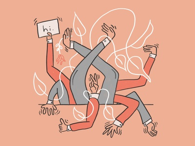 hi. procreate line art drawing illustration hello hands arms