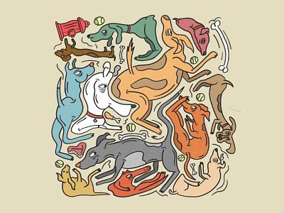 Dogs, pretty much. graphic design illustration procreate animals dogs dog