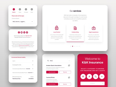 New controls - K&K Insurance kit ui controls ui new controls digital insurance insurance company flow insurance payment flow pay ui android app quote insurance ui insurance ux ux