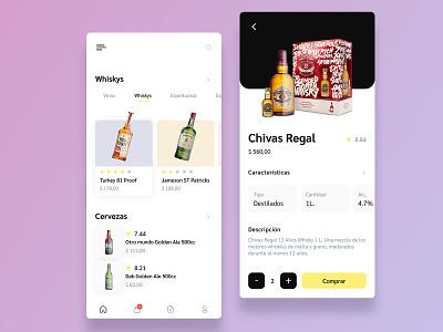 Liquor, Beer & Wine uxui ecommerce mobile whisky app whisky ux ui beer app wine app