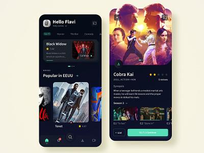Flow tv app app series dark ui clean ui season app movies series peliculas hbogo netflix youtube video app app streaming tv streaming app tv flow tv tv ui ux
