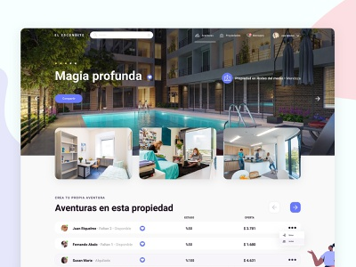 Room sharing - Web app component roomies roomie app ui ux web app
