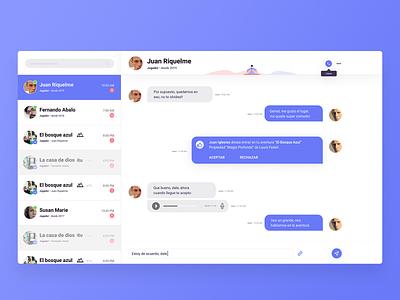 Clean chat - Web app chat web component app chatting chat app uiux ui chat
