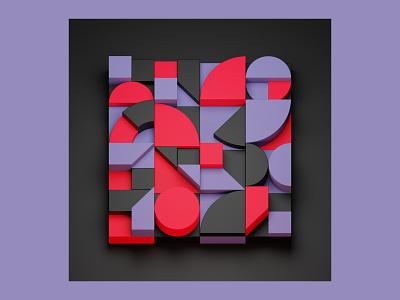 Shapes tebbott illustration blocks shapes blender 3d