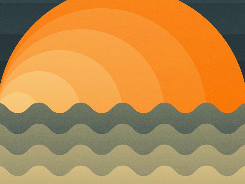Sun earth waves water sun