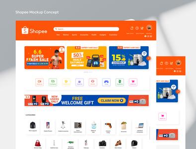 Shopee Revision UI concept branding uidesign ux