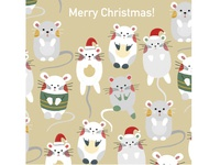 Christmas and mouses