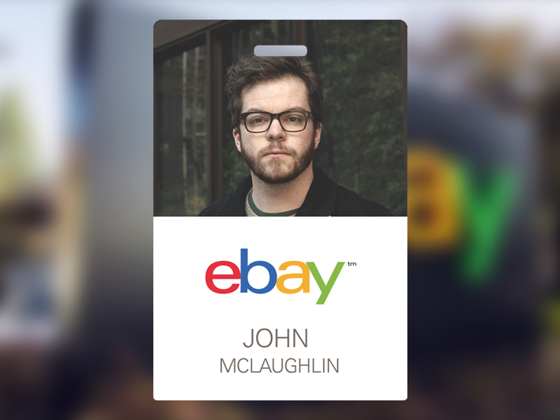 eBay Employee Badge ebay badge id employee card nametag