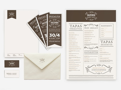 Visual identity for a restaurant