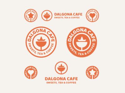Dalgona Cafe Logo branding and identity branding design branding concept freelance designer bakery logo cafe logo coffee shop coffee shop logo