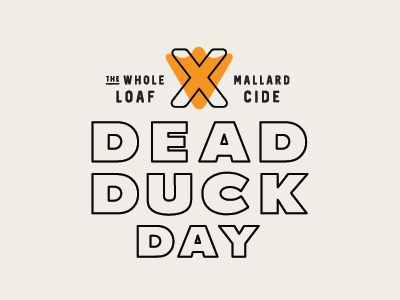 Dead Duck Day design badge hugh grant 502 loaf louisville logo lockup typography mallard film about a boy