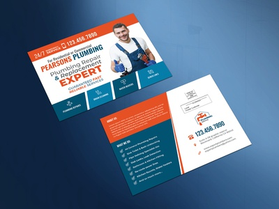 Plumber Marketing Eddm Postcard