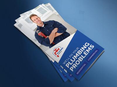 Plumber Tri fold Brochure Template