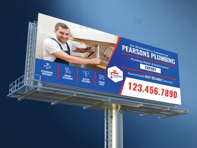 Plumbers Billboard Template