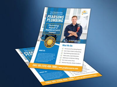 The Plumbing Service Flyer Template