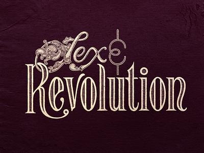 S&R Wordmark revolution sex scrolls victorian typography band music folk logo lettering illustration branding type