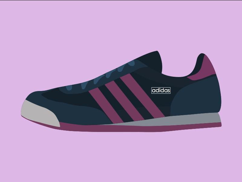 adidas shoes vector