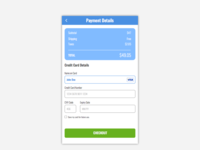 Daily UI Day #002 - Credit Card Checkout