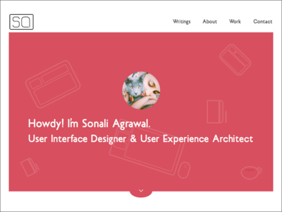 Daily UI Day #003 - Landing Page (above the fold)