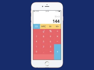 Daily UI Day #004 - Calculator