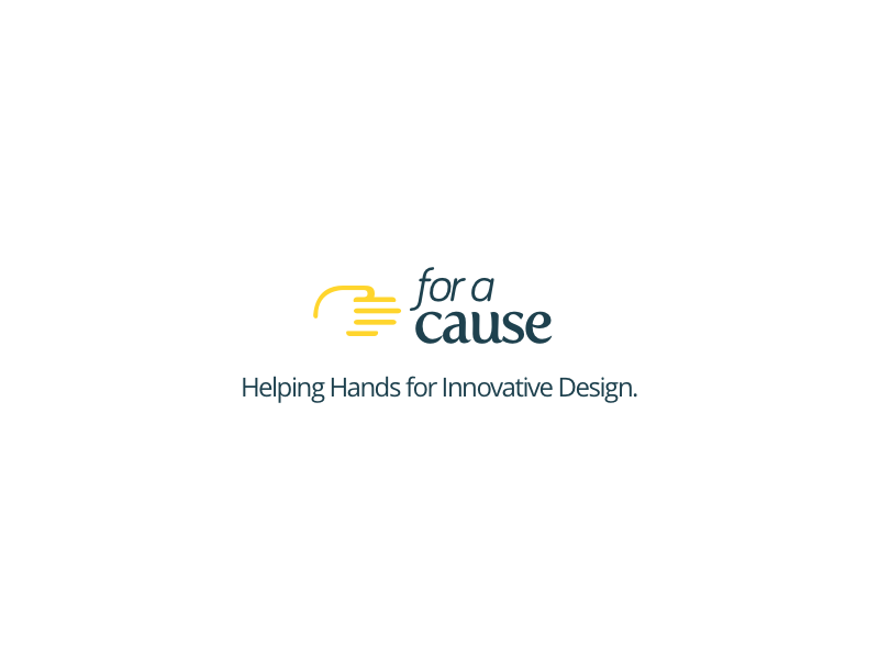For a Cause - Helping Hands for Innovative Design Logo + Tagline non profit logo
