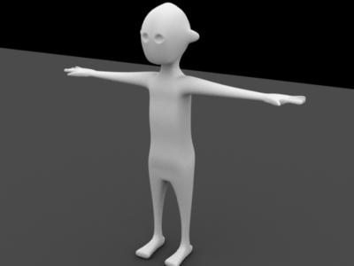 3D Alien Character Modeling