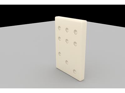 3D Domino maya 3d