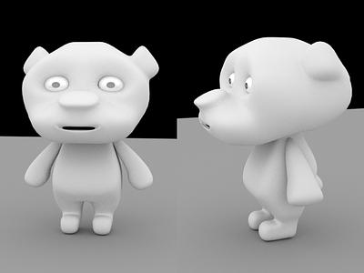Bear Model render maya 3d