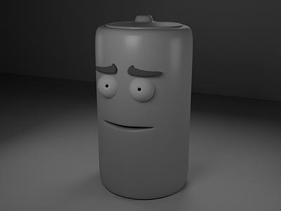 The Battery Man render maya 3d
