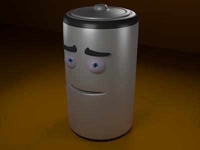 Battery Man Textured maya 3d