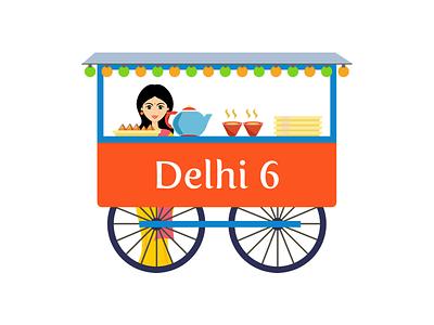 Delhi 6 Logo vector sketch logo