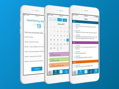 Smart Calendar App smart calendar app ux design mobile app sketch ui design