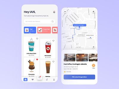 Haz - Coffee Shop Mobile App coffee shop coffeeshop coffee app ui  ux uiux ui ux design mobile mobile ui