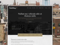 Website for a new construction project